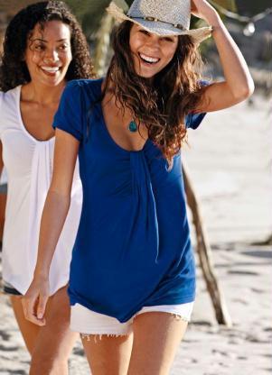 blusa manga curta azul 107711 301 2 - Pechincha na Riachuelo