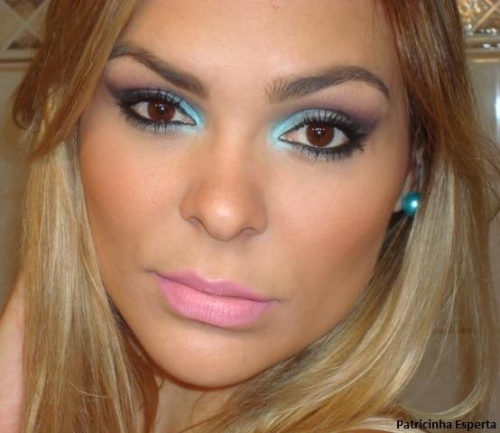 043post - Maquiagem para a noite: Turquesa / Chumbo / Preto