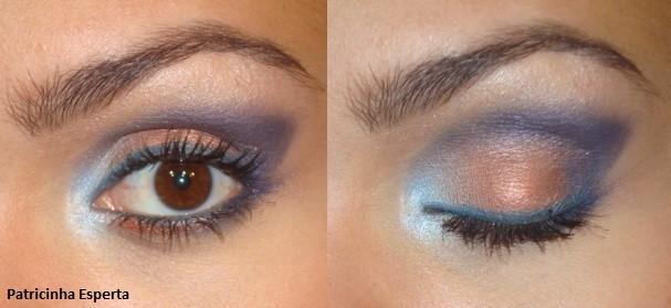 023post - Tutorial - Maquiagem Azul e Cobre