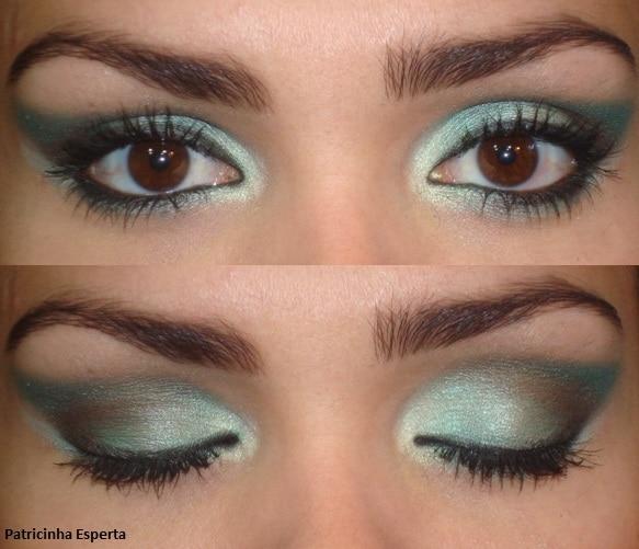 006 - Maquiagem Verde para Festas e Baladas - Trio de Sombras Fenzza