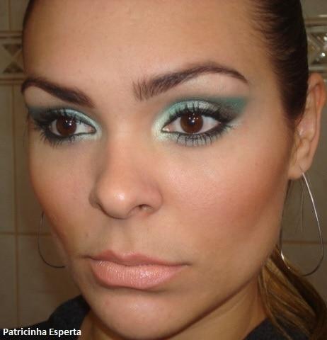009 - Maquiagem Verde para Festas e Baladas - Trio de Sombras Fenzza