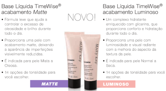 Base Time Wise Mary Kay - Como Maquiar Peles Negras – Exemplos de Bases MAC e Mary Kay