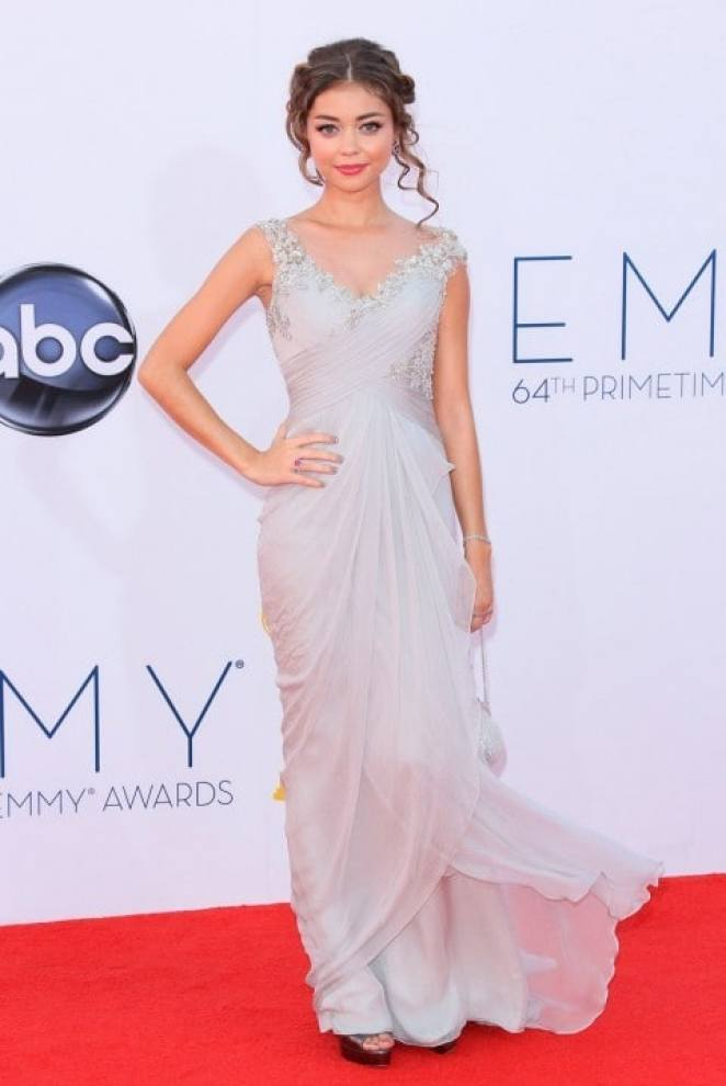 Sarah Hyland de Marchesa Emmy Awards 2012 - Looks Emmy Awards 2012