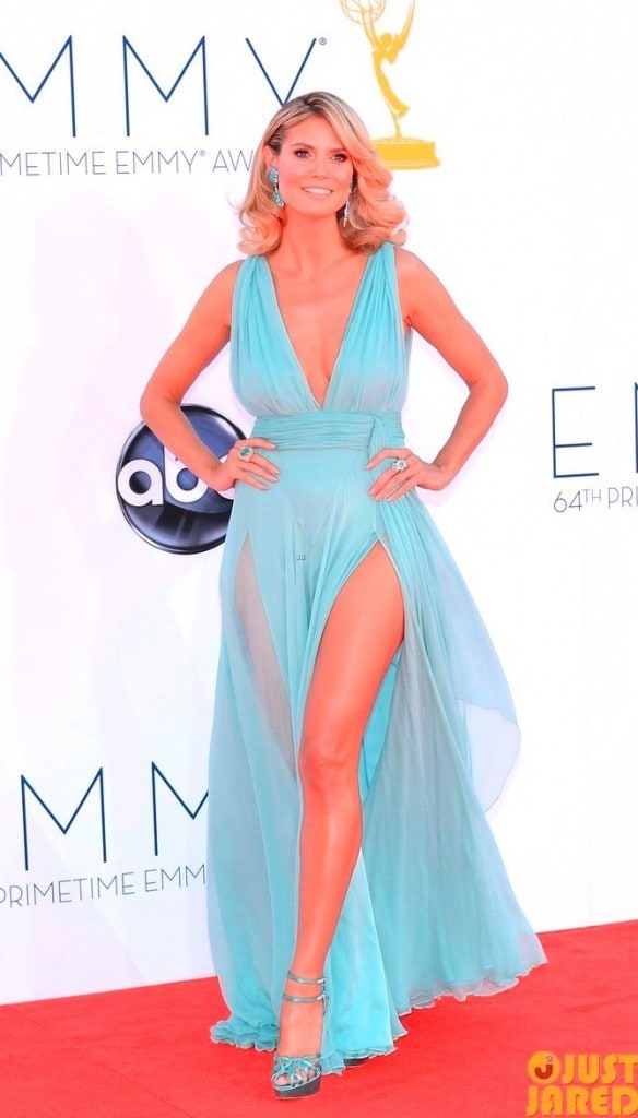 heidi klum emmys 2012 red carpet 01 Alexandre Vauthier 584x1024 - Looks Emmy Awards 2012