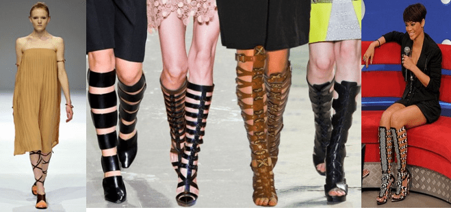 Gladiador - Sandálias Gladiador – a moda da vez!