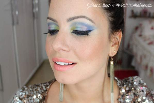 juliana goes colors - Tutorial: Maquiagem Colorida para arrasar no Carnaval