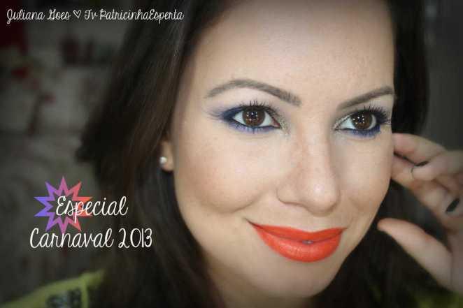 juliana goes foto carnaval - Maquiagem de Carnaval Fácil e Rápida