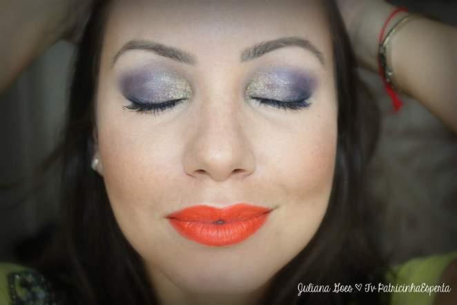 juliana goes olhos glitter - Maquiagem de Carnaval Fácil e Rápida