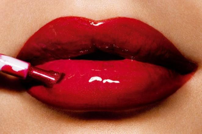 Boca vermelha - Aposte nos lábios vermelhos estilo vinil