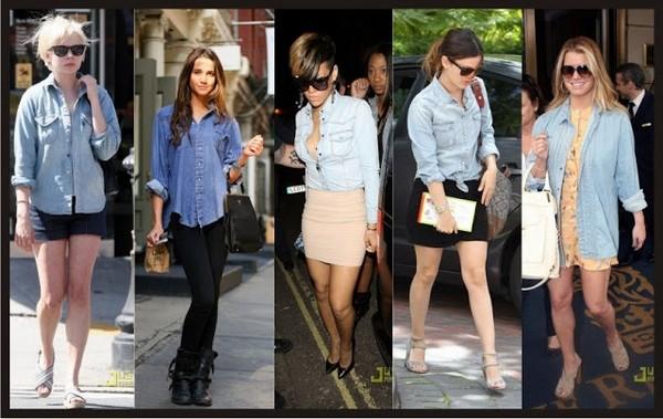 camisa jeans2 - Camisa jeans: um clássico do armário feminino