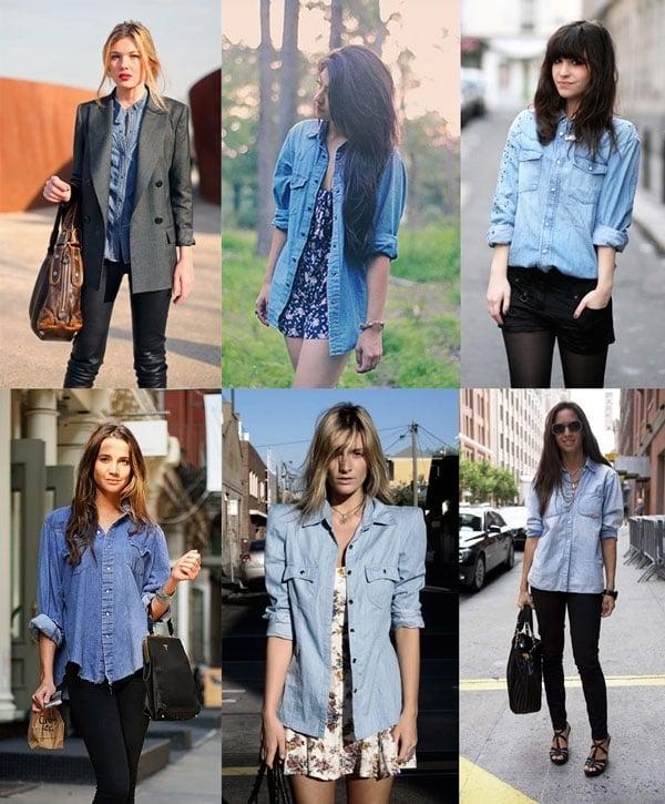 camisa jeans3 - Camisa jeans: um clássico do armário feminino