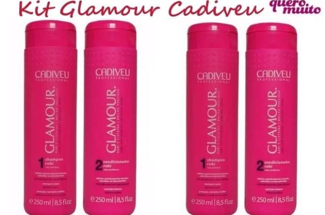 Glamour Cadiveu - Shampoo e Condicionador Glamour: Pra Tratar os Fios Danificados