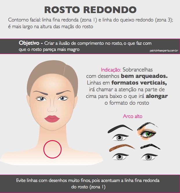 rosto redondodo.001 - Design de sobrancelhas: como fazer?