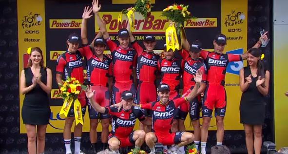 BMC wint ploegentijdrit in Tour de France