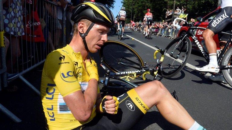 Tony Martin crash Tour de France etappe 6