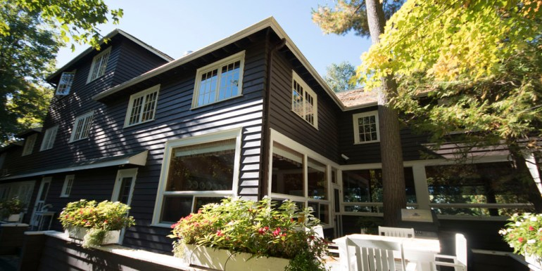 Back deck of cottage