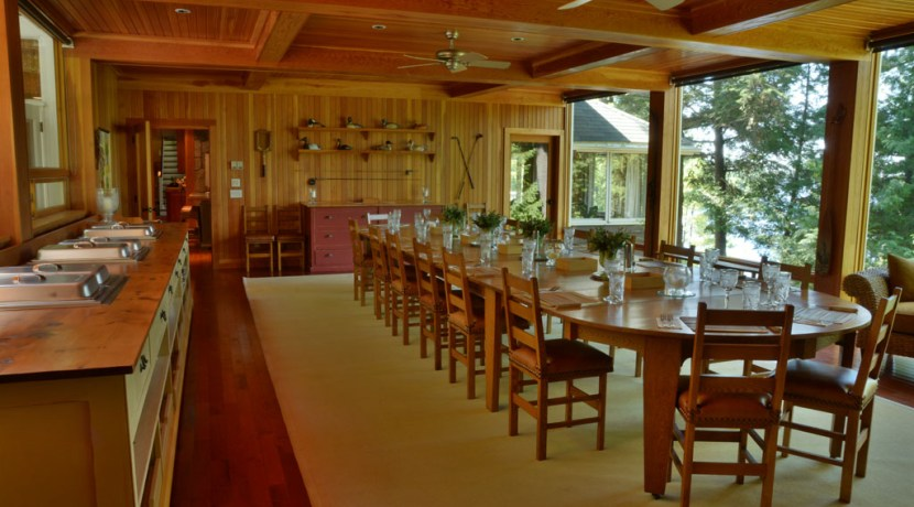 Table for 24 in dining room