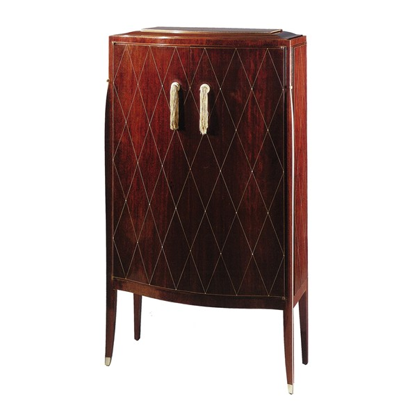 bahu 42a n low two doors cabinet sycamore or macassar ebony strips cabinet patrick gaguech the collections