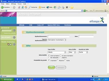 AFSSAPS - Habillage pour un intranet SharePoint (dév. Brainsoft)