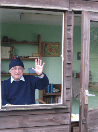 Patrick Miles in his summer house, 11 December 2016