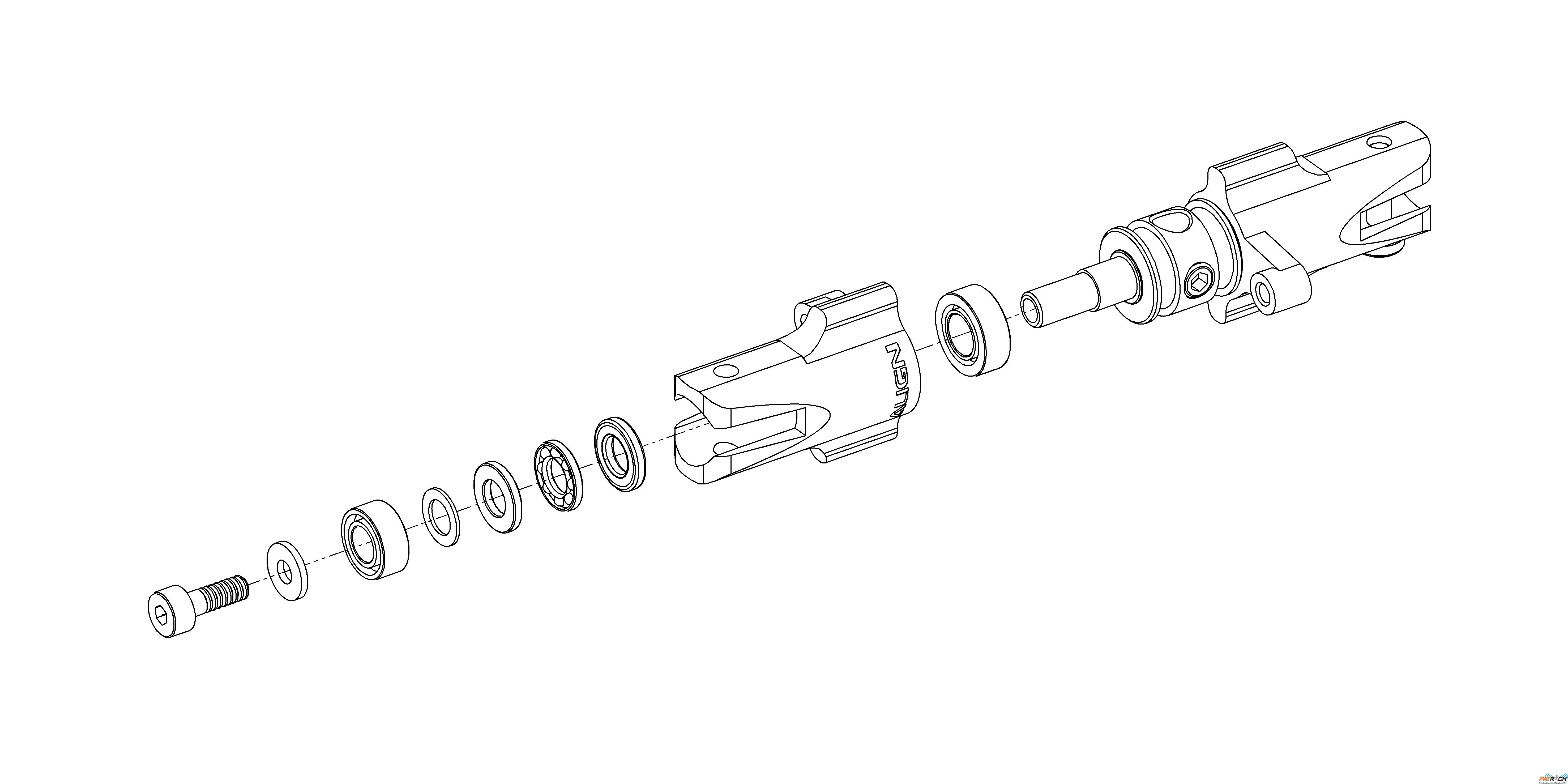 Pieds De Pales Anticouple Metal T Rex 450