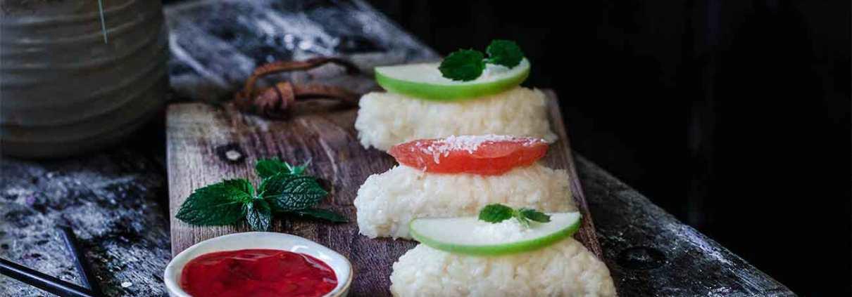 erfrischendes Frucht Sushi