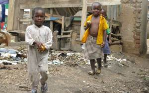 Kids in slums