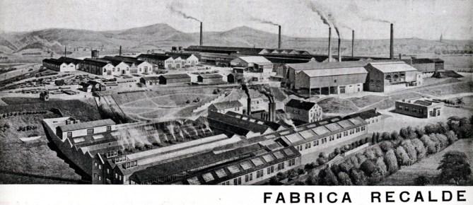 S. A. Echevarría. Fábrica de Rekalde en Bilbao en una inserción publicitaria publicada en 1938.