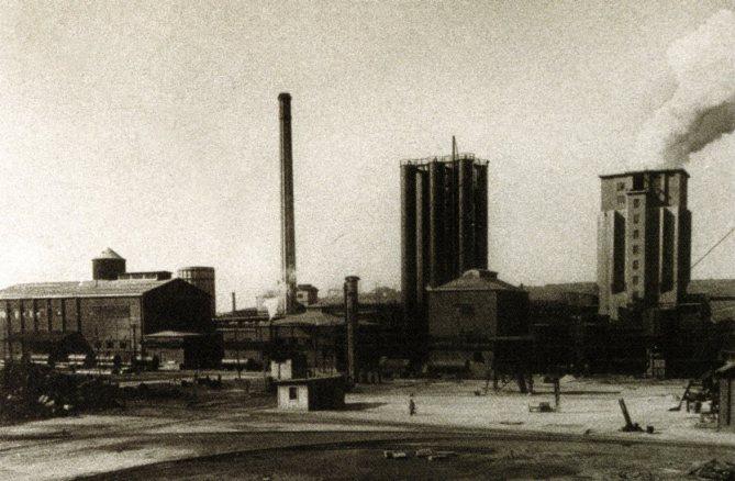 Vista antigua de las torres de apagado