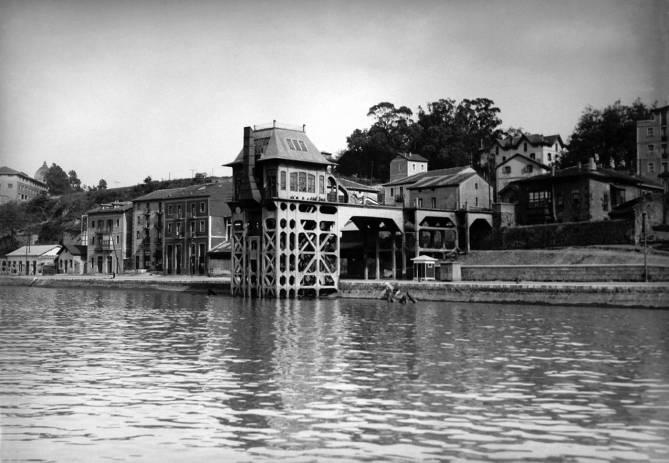 El cargadero de Olabeaga en 1932. (Colección Autoridad Portuaria de Bilbao)