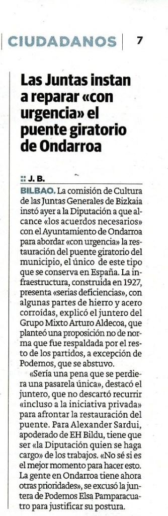 Diario El Correo. 13/05/2016.