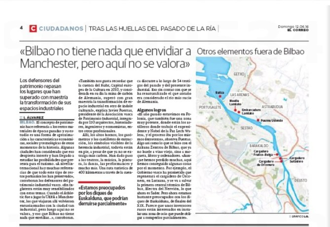 «Bilbao no tiene nada que envidiar a Manchester, pero aquí no se valora» Los defensores del patrimonio repasan los lugares que han superado con maestría la transformación de sus espacios industriales
