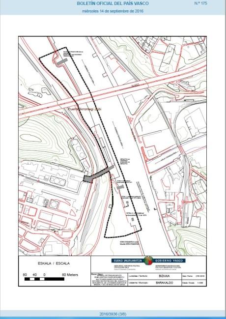Plano de delimitación de la zona protegida (BOPV 14/09/2016)