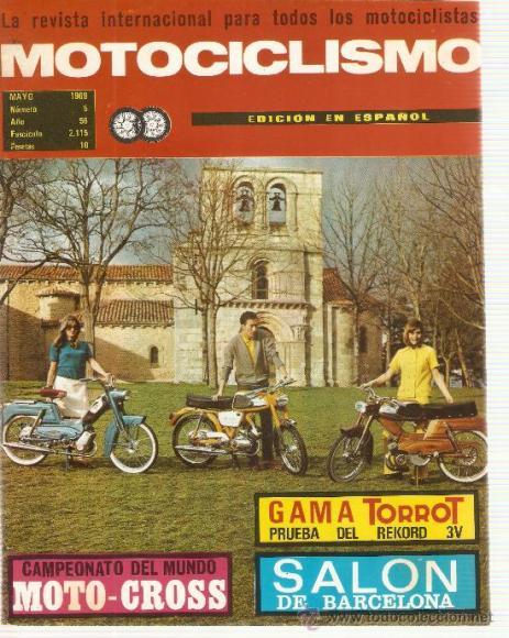 Gama TORROT. Prueba del Record 3V. Revista Motociclismo, mayo de 1969.