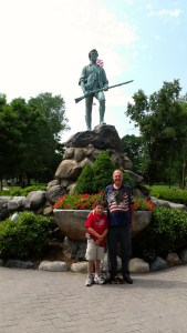 """The Patriot Pastor"" and my son Zach on Lexington Green..."