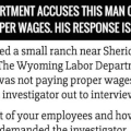 Labor Department Accuses This Man Of Not Paying Proper Wages.   His Response Is Hilarious
