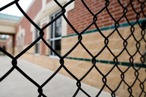 Chain link fences are ideal for security purposes.