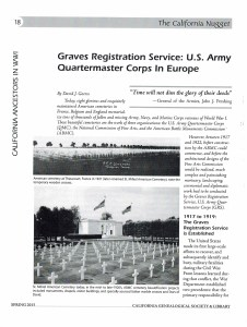 Graves Registration Service: U.S. Army Quartermaster Corps in Europe