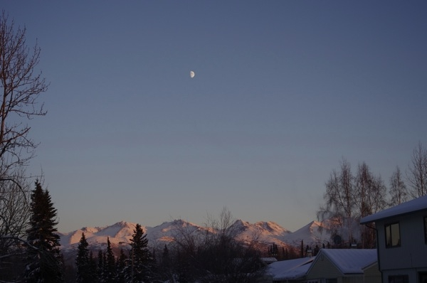 Sunset on the Chugach