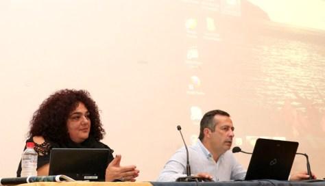 Οι ομιλητές κ. Μαρία Μελεσανάκη και κ. Γιώργος Δασκαλάκης