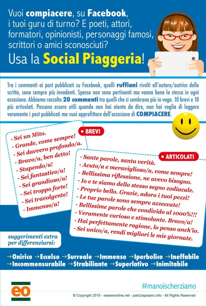 Infografica Social Piaggeria - Essere Online