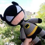 Batman amigurumi a crochet