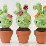 Cactus amigurumi con patrón