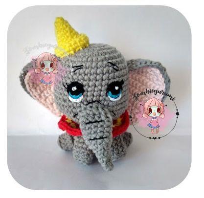 Pequeño Dumbo en amigurumi