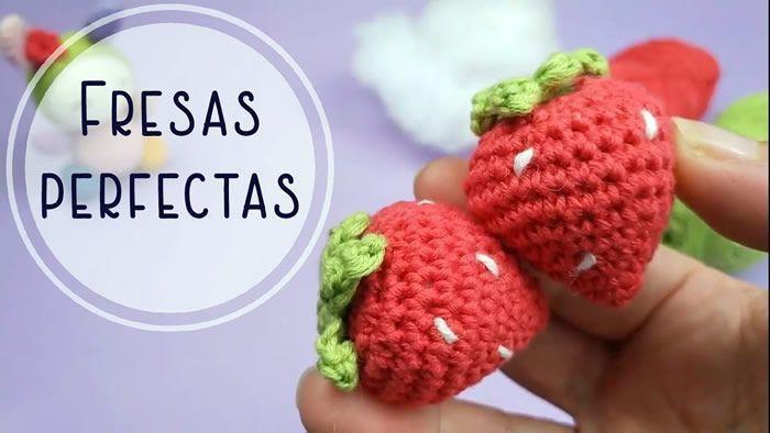 Fresas perfectas tejidas a crochet