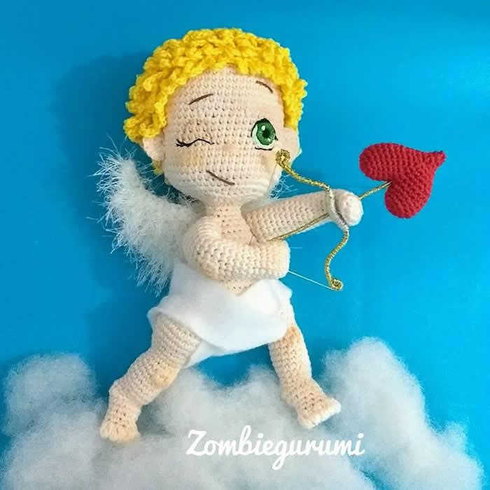 DIY Cupido amigurumi patrón y paso a paso