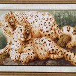 Leopardos a punto de cruz