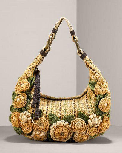 ace2e2ac6 Espectacular bolso de flores hecho y tejido a crochet, patrón e  instrucciones con el paso a paso.