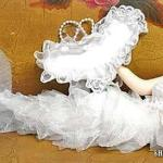 Sirena Blanca de tela