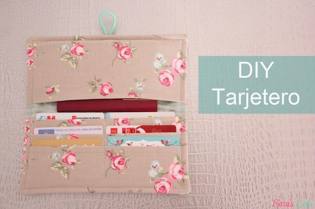 Tarjetero con tela - Patrones gratis